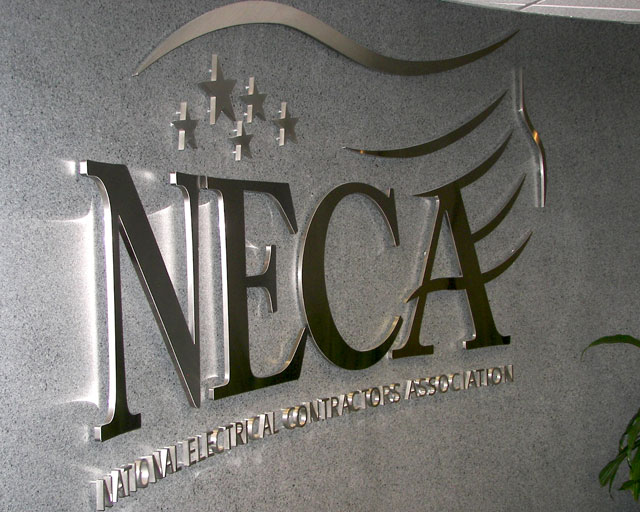 The National Electrical Contractors Association Logo Sign